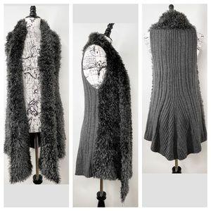 #73. Carol Rose Furry Vest Size Large